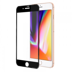 For iPhone 8 Plus 5D Round Edge Full Edge To Edge Tempered Glass